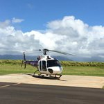 helicopter for our tour