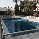 swimming pool small but clean and the is all way warm