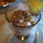 Greek yoghurt .. Compost and granola yum yum