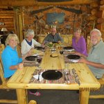 Dining on our first night.