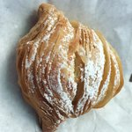 Sfogliatelle- pastry with ricotta and orange zest filling. Yummy!