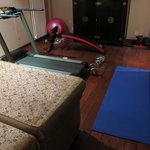 Fitness room at the hotel