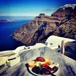 Great view eating breakfast