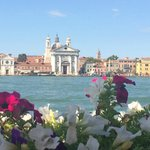 View of Venice from Giudecca island - 5 minute free water taxi to Venice