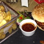 My Sons girlfriend had the half pound burger with jerk sauce she said it was stunning.