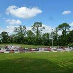 Go-kart track behind lodge