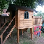 The outside play equipment for the kids