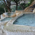 man made pools with water constantly flowing