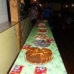 Mesa da festa Juina