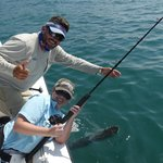 Capt Pepe and Wife with Tarpon