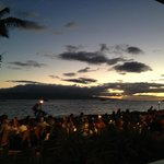 View from Betty's of beach and Feast at Lele