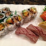 two types of sushi and sashimi