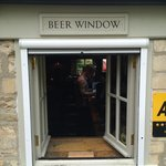 Beer window at The Village Pub
