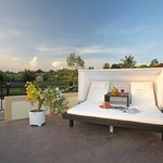 Each suite has a rooftop sitout with a breathtaking view of rice fields