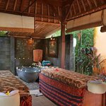 A view of the spa which offers massages and beauty treatments