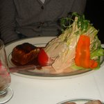 mountain of lettuce drenched in thousand island dressing
