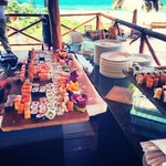 Sushi bar on the beach for Excellence Club Memebers
