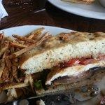 Portabella Mushroom Sandwich with Fries (2)