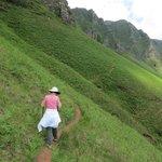 on the way up the 900m climb to Iparla Ridge