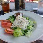Chunky chicken salad. They were out of brocoli and cauliflower.  Still a great salad.