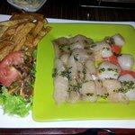 Pierrade mix poisson st Jacques
