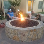 Relaxing at firepit. FW, Texas