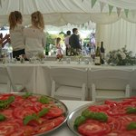 Vine tomato salad, perfect accompaniment to paella
