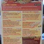 Hamburger menu only here, not the full menu