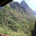View from mezanine out over forest towards Gros Piton