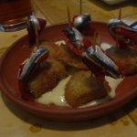 anchovies, peppers, artichokes w/ aioli