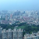 View of Zhongshan Park from the 45th floor