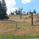Alpine track and ski lift