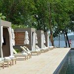 Cabanas poolside