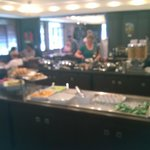 Breakfast buffet at Vic's