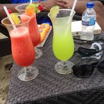 refreshing drinks at the beach club…excellent service