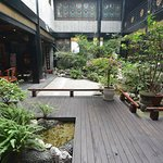 BuddhaZen Hotel courtyard