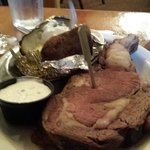 Prime Rib with Baked Potato