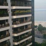 vista desde el balcon de la habitación