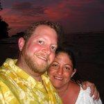 Honeymooners at Sunset