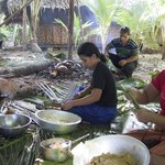 Traditional Food Preparation at Kosrae Village