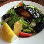 Blackberry salmon salad