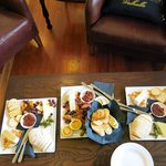Our delicious platters that complimented our wines.