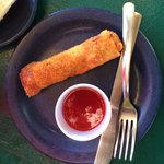 Seafood egg roll