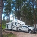 Our fifth-wheel in Big Pine
