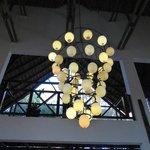 Hotel Lobby light fittings, resembling ostrich eggs