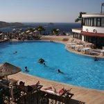 veiw of hotel pool