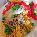 Chicken and yellow rice. The best I've ever tasted!