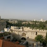 A view from the hotel roof of part of new Jerusalem