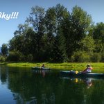 We rented Kayaks from Annies Orchard in Clarks Fork