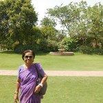Maa Enjoying Lawns